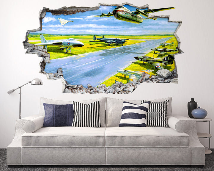 Airplane Runway Living Room Decal Vinyl Wall Sticker Q306