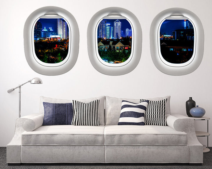 City At Night Living Room Decal Vinyl Wall Sticker Q310