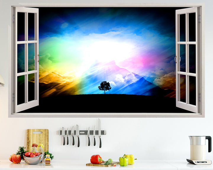 Nature Colourful Sky Kitchen Decal Vinyl Wall Sticker Q317