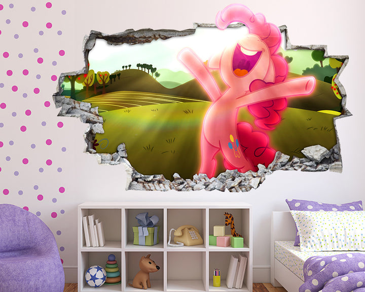 Pink Pony Girls Bedroom Decal Vinyl Wall Sticker Q320