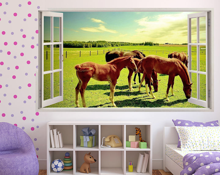 Wild Horses Girls Bedroom Decal Vinyl Wall Sticker Q341