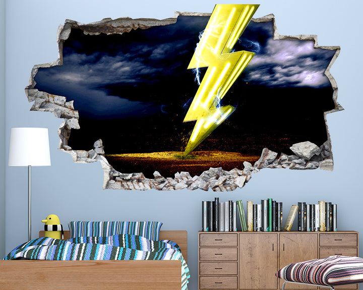 Lightning Bolt Boys Bedroom Decal Vinyl Wall Sticker Q344