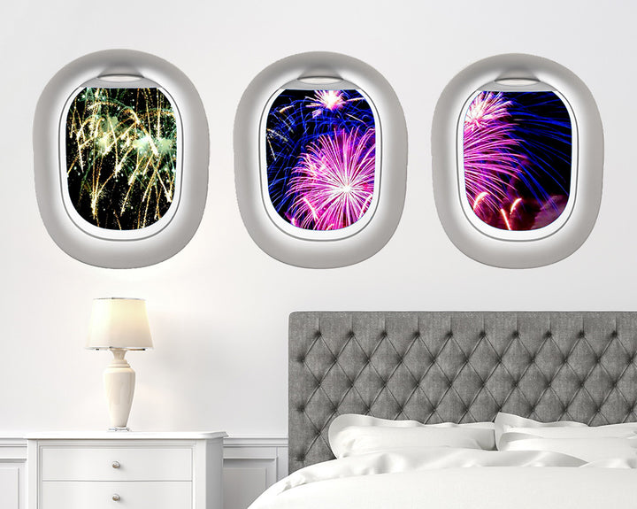 Firework Display Bedroom Decal Vinyl Wall Sticker Q354
