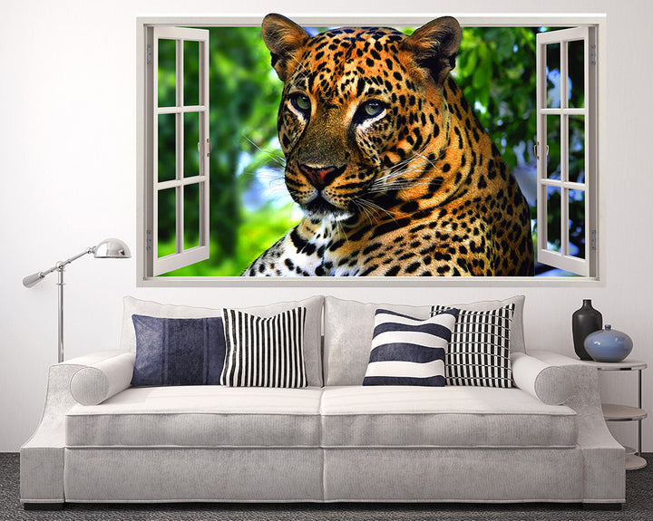 Nature Cheetah Living Room Decal Vinyl Wall Sticker Q359