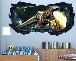 Robot Dinosaur Boys Bedroom Decal Vinyl Wall Sticker Q369