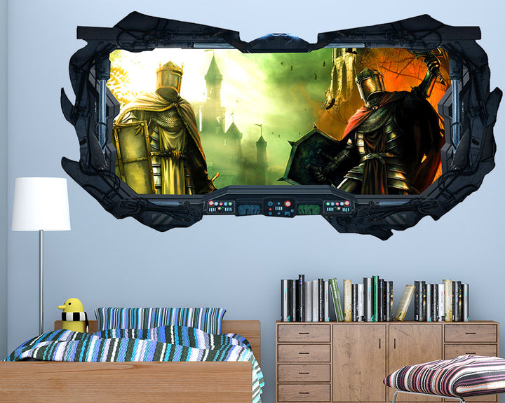 Knight Kingdom Boys Bedroom Decal Vinyl Wall Sticker Q371