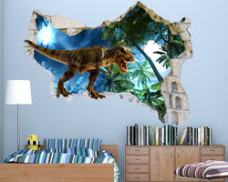 Dinosaur Island Boys Bedroom Decal Vinyl Wall Sticker Q372