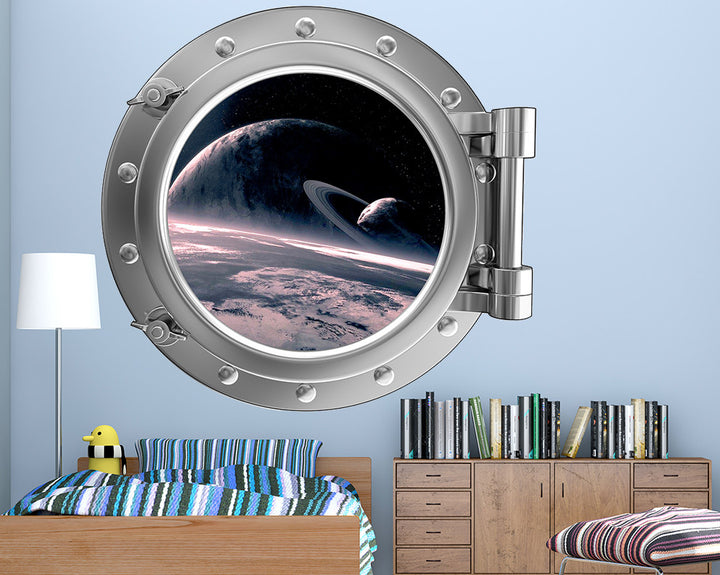 Space Cool Planet Boys Bedroom Decal Vinyl Wall Sticker Q373