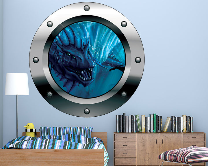 Mythical Sea Creature Boys Bedroom Decal Vinyl Wall Sticker Q377
