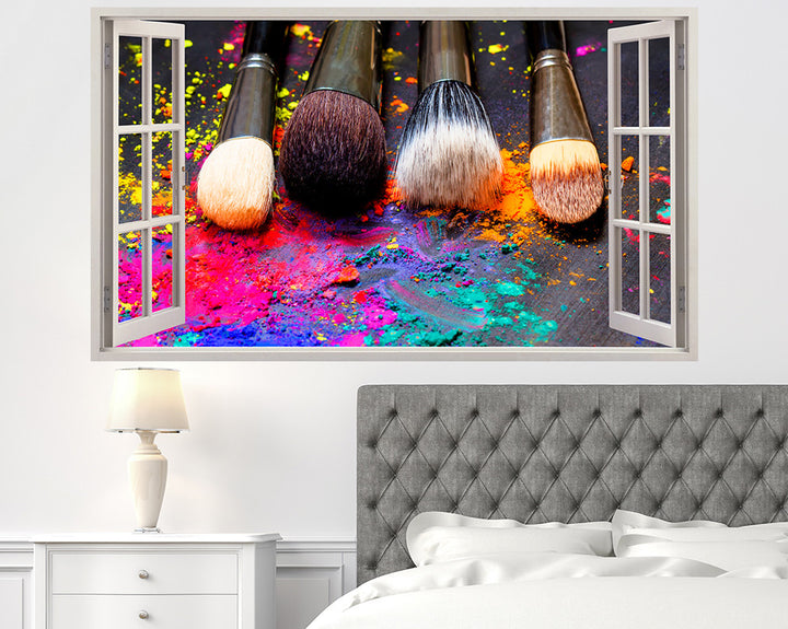 Makeup Brush Bedroom Decal Vinyl Wall Sticker Q384
