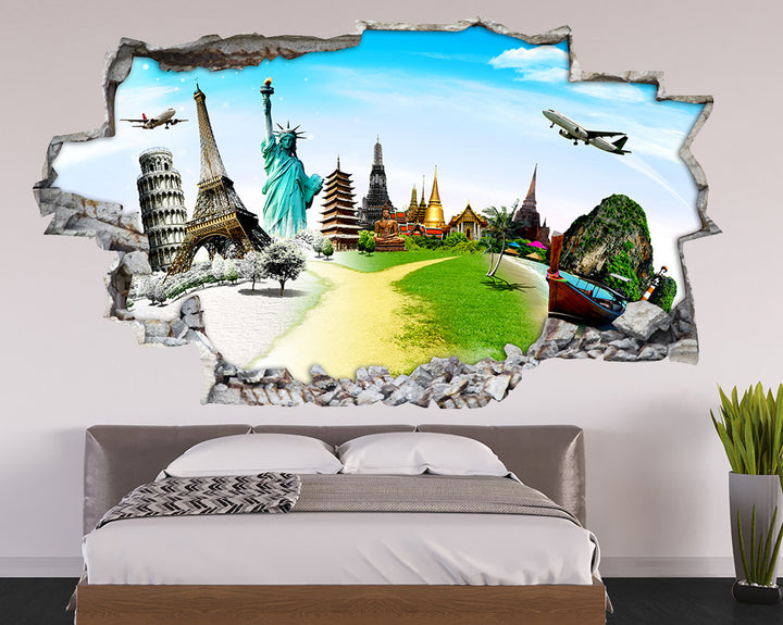 Tourist Attractions Bedroom Decal Vinyl Wall Sticker Q392