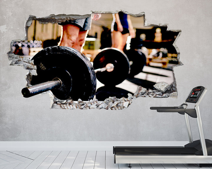 Heavy Weights Gym Decal Vinyl Wall Sticker Q397