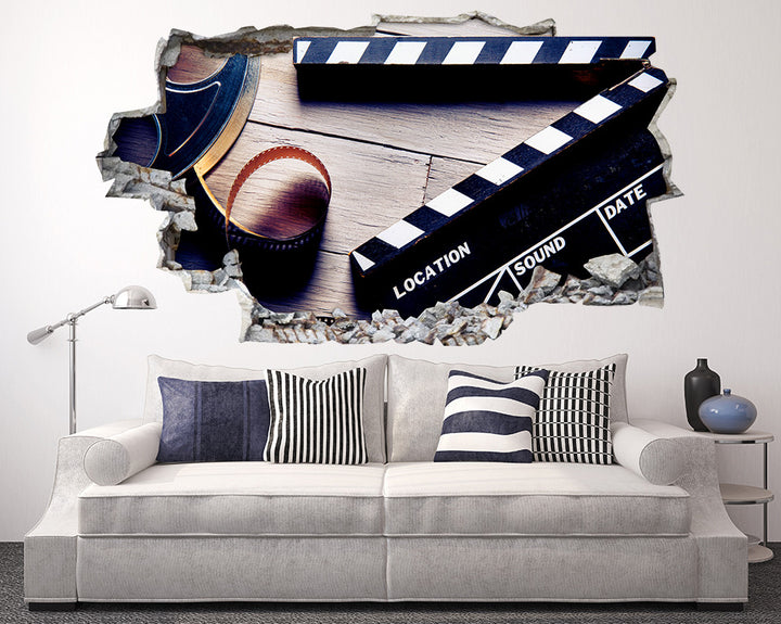 Film Production Living Room Decal Vinyl Wall Sticker Q402
