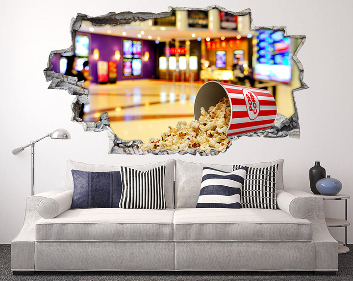 Popcorn Theatre Living Room Decal Vinyl Wall Sticker Q403