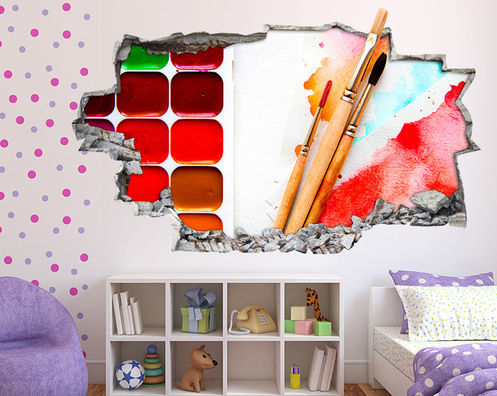 Painting Colours Girls Bedroom Decal Vinyl Wall Sticker Q436