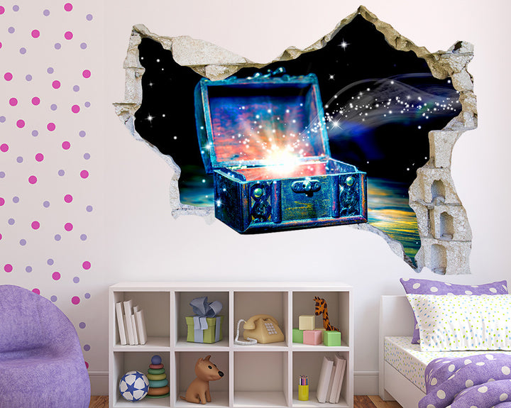 Magical Treasure Chest Girls Bedroom Decal Vinyl Wall Sticker Q440
