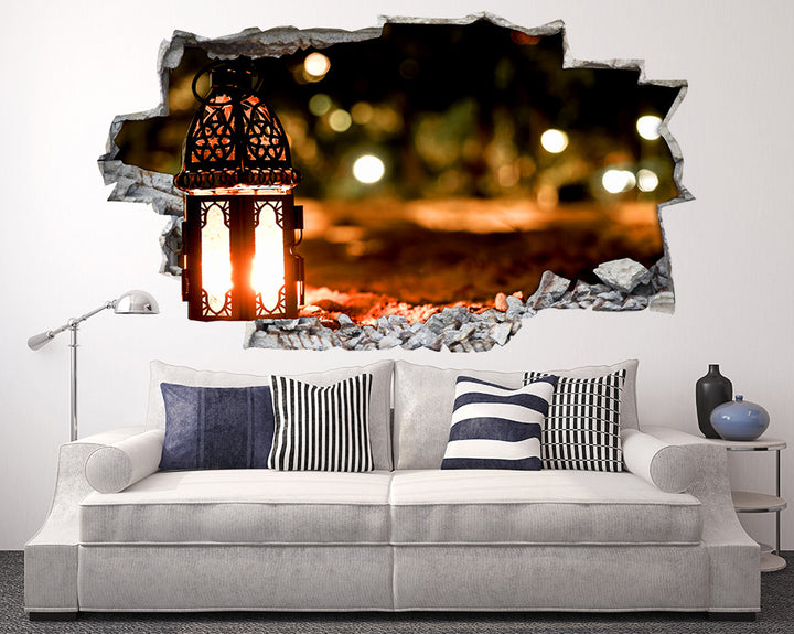 Lantern Beach Living Room Decal Vinyl Wall Sticker Q445