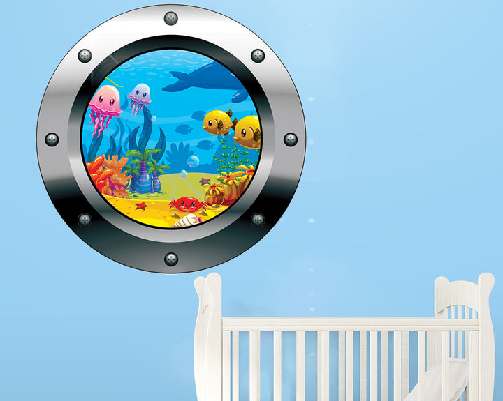 Cartoon Underwater Nursery Decal Vinyl Wall Sticker Q461