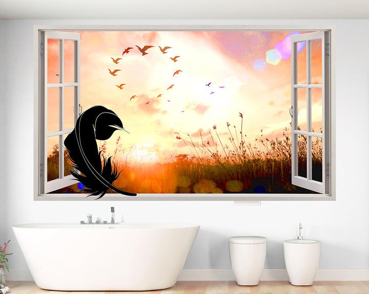 Feather Field Bathroom Decal Vinyl Wall Sticker Q482