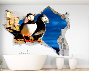 Puffin Cliff Bathroom Decal Vinyl Wall Sticker Q519