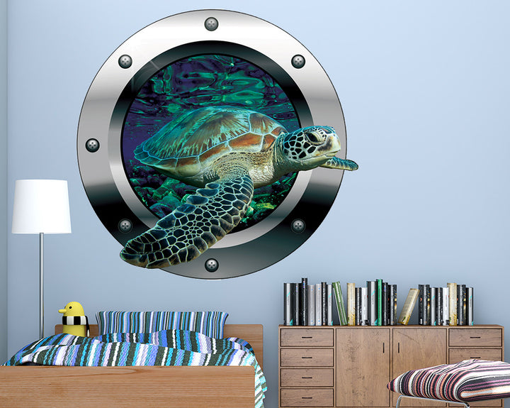 Turtle Sea Bed Boys Bedroom Decal Vinyl Wall Sticker Q535