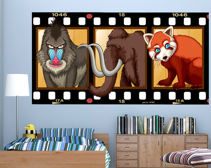 Brown Animals Boys Bedroom Decal Vinyl Wall Sticker Q539