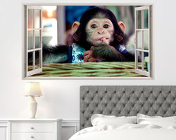 Cute Baby Monkey Bedroom Decal Vinyl Wall Sticker Q541