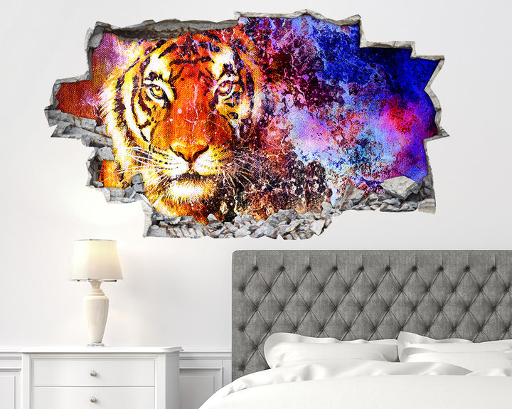 Tiger Splash Bedroom Decal Vinyl Wall Sticker Q545