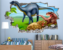 Dinosaur Land Boys Bedroom Decal Vinyl Wall Sticker Q553
