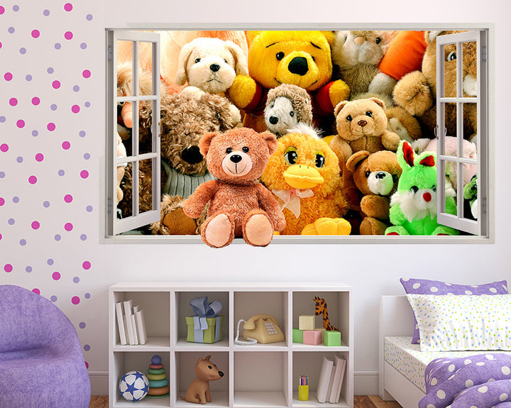 Cuddly Toys Girls Bedroom Decal Vinyl Wall Sticker Q554