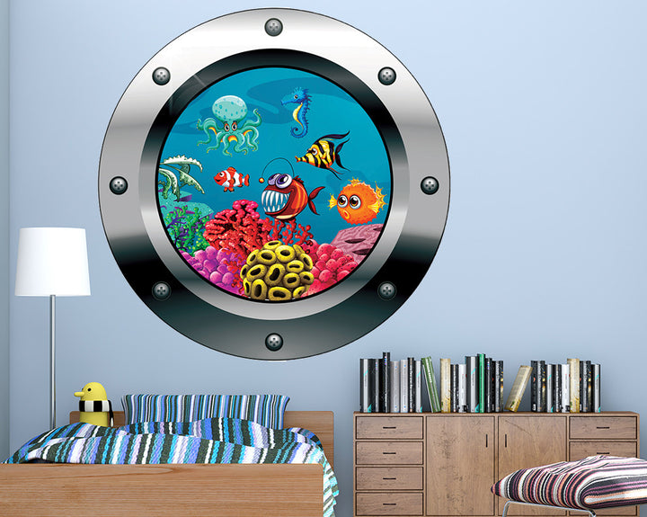 Sea Creature Piranha Boys Bedroom Decal Vinyl Wall Sticker Q558