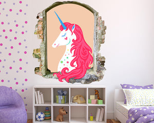 Pretty Unicorn Girls Bedroom Decal Vinyl Wall Sticker Q559