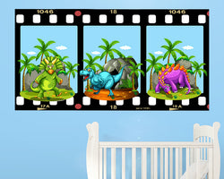 Dinosaur Cave Nursery Decal Vinyl Wall Sticker Q560