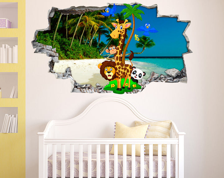 Island Animals Nursery Decal Vinyl Wall Sticker Q561