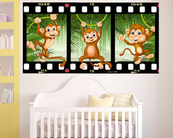 Playful Monkey Nursery Decal Vinyl Wall Sticker Q563