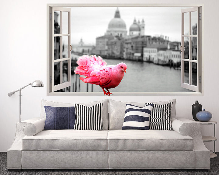 Pink Pigeon Living Room Decal Vinyl Wall Sticker Q567