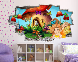 Fairy Kingdom Girls Bedroom Decal Vinyl Wall Sticker Q580