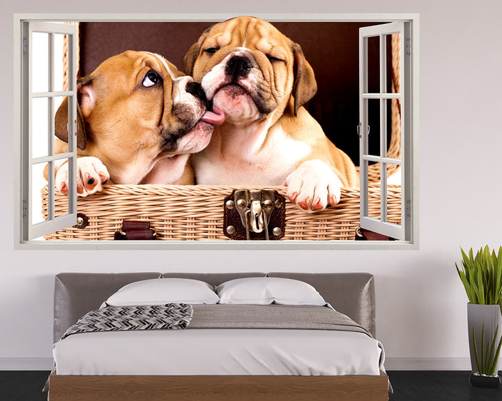 Puppy Kisses Bedroom Decal Vinyl Wall Sticker Q582