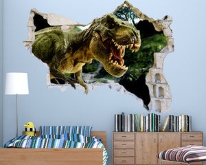 Scary Dinosaur Boys Bedroom Decal Vinyl Wall Sticker Q586