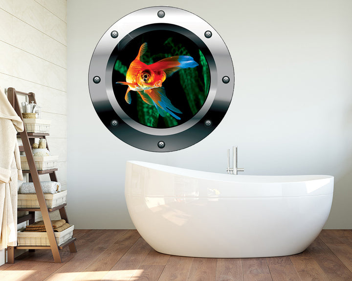 Swimming Goldfish Bathroom Decal Vinyl Wall Sticker Q606