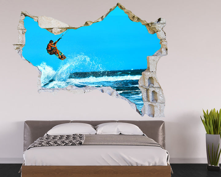 Surfing Waves Bedroom Decal Vinyl Wall Sticker Q624