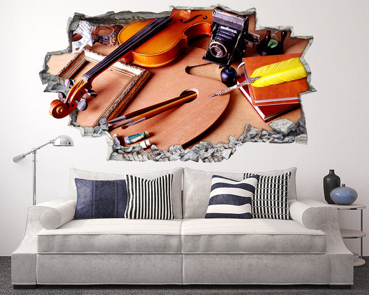 Art And Music Living Room Decal Vinyl Wall Sticker Q626
