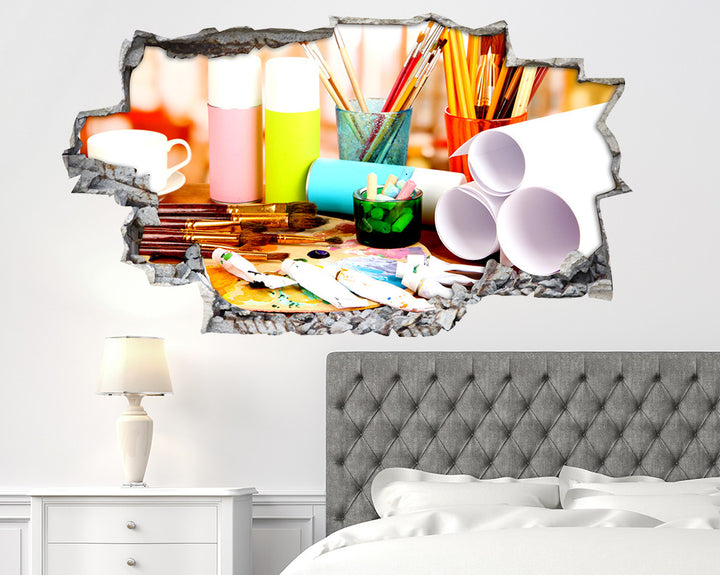 Painting Art Bedroom Decal Vinyl Wall Sticker Q642