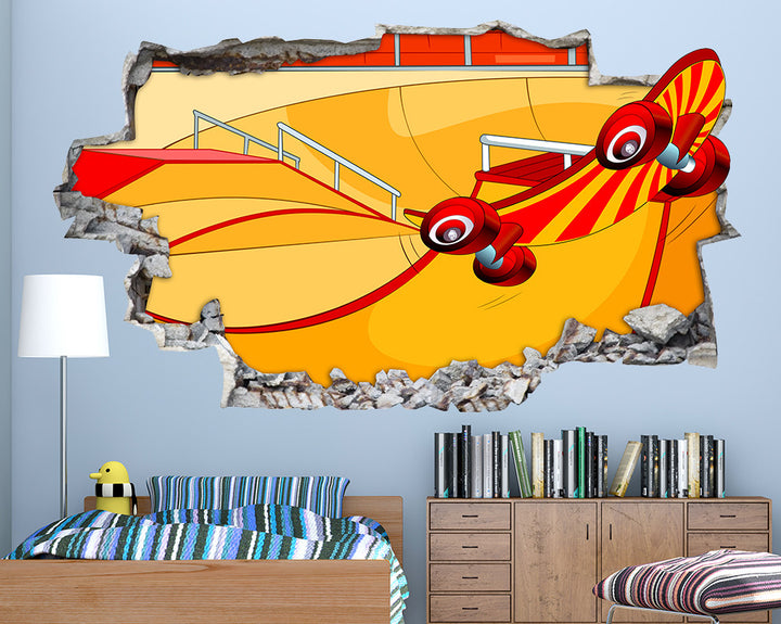 Skateboard Ramp Boys Bedroom Decal Vinyl Wall Sticker Q650