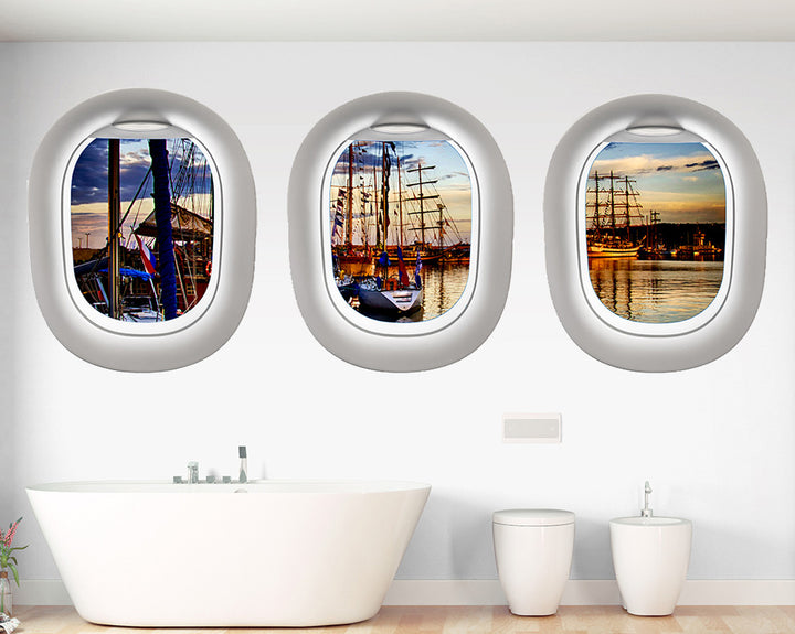Boat Pier Bathroom Decal Vinyl Wall Sticker Q652