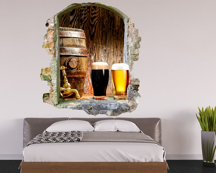 Beer Alcohol Mancave Decal Vinyl Wall Sticker Q653