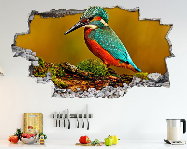 Kingfisher Bird Kitchen Decal Vinyl Wall Sticker Q654