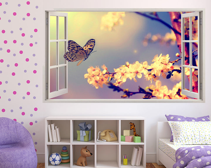 Delicate Butterfly Girls Bedroom Decal Vinyl Wall Sticker Q655