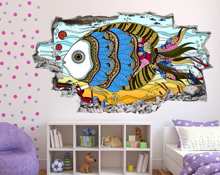 Pretty Fish Girls Bedroom Decal Vinyl Wall Sticker Q673