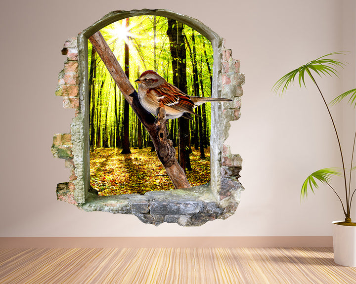 Woodland Bird Hall Decal Vinyl Wall Sticker Q679